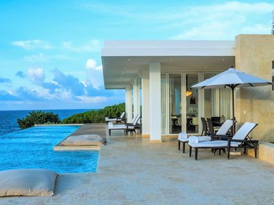 Photo for STUNNING LUXURY OCEANFRONT 4-BEDROOM POOL VILLA RAPHAEL + BREAKFAST INCLUDED