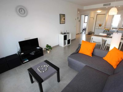 Photo for Indalo, child-friendly apartment with garden in luxury complex near beach