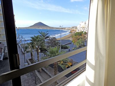 Photo for Beautiful and large Beachfront Apartment in El Medano (wifi + sat tv)