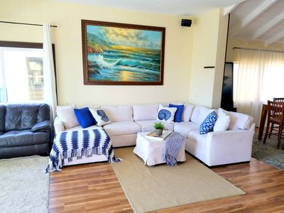 Photo for Contemporary Duplex, Steps to the Sand, Ocean View Deck, Bbq