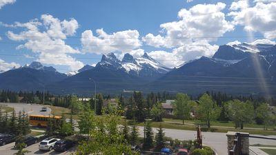 Photo for Luxury 2 Bed Plus Den Condo. Best Views In Canmore! (sleeps6) free cable/WiFi