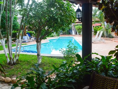 Photo for Pool-side apartment studio with full kitchen, 1 minute from beach at La Punta