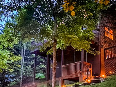 Photo for Great Cabin w/ Wooded View, Firepit, Hot Tub, Game Room, Fireplace, Porch Swing!