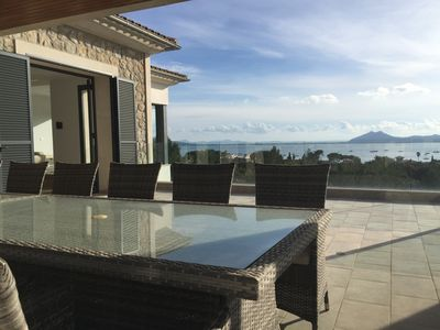 Photo for Exquisite, luxury  villa with breathtaking panoramic coastal and mountain views