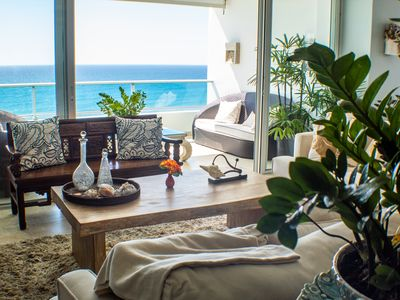 Photo for ★ NEW Beachfront Apartment with Two Balconies