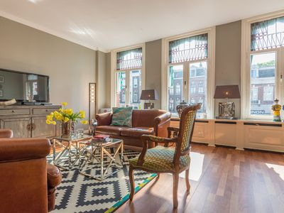 Photo for Magnificent two bedroom apartment, housing up to four guests opposite the Oosterpark in Amsterdam Ea