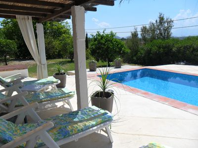 Photo for Quiet, spacious 3 bedroom villa with private  pool and views just off village