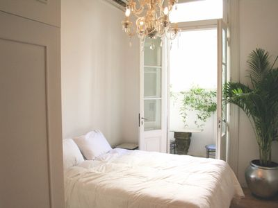 Photo for Perfect French style Recoleta studio with balcony, 6 Mega WiFi, chandeliers...