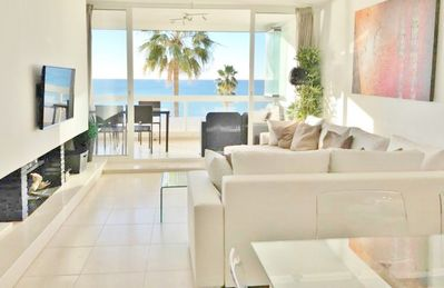 Photo for ON THE BEACH - SEA VIEW - 4 pools (1 INDOOR) - Dona Lola BEACH - WIFI