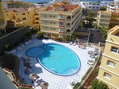 Photo for Spacious three double bedroom apartment with FREE WIFI, UK TV, pool & sea views
