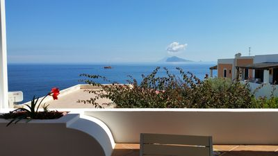 Photo for Daniela S. apartment with PANORAMIC TERRACE - Acquacalda-LIPARI beach