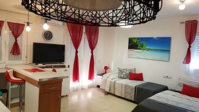 Photo for Modern studio apartment close to Gran Hotel Bali and the beach
