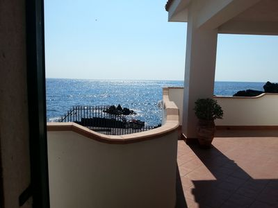 Photo for Villa sun elegant villa surrounded by palm trees and the sea of ​​Sicily