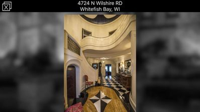 Foyer with winding staircase