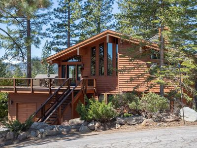 Photo for Bright lakeview home near Tahoe City, huge sunny lakeview deck