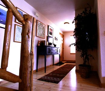 Warm and inviting front entry.