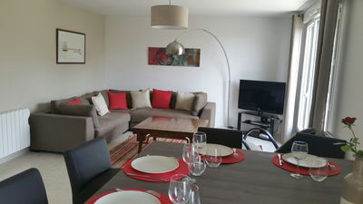 Photo for Sea and garden view apartment in a luxury residence just steps from the beach