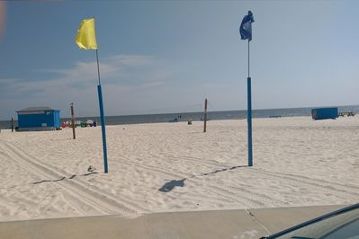 Beach across the street from the complex