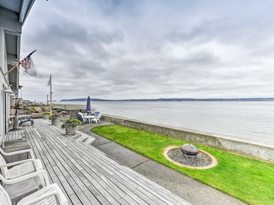 Photo for NEW! Beachfront Whidbey Island Home + Apartment!