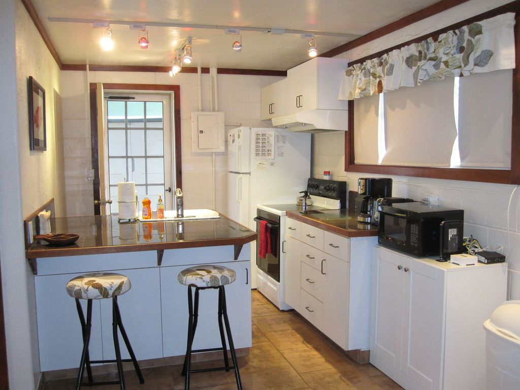 private waterfront house with quiet ac and vrbo full kitchen