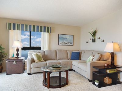 Photo for Summer Sale! 25% off! Island Winds, Beautiful 6th Floor Sunset VIews! FREE WIFI, central air, on-site parking and full-sized washer and dryer in unit. CLICK FOR REVIEWS!