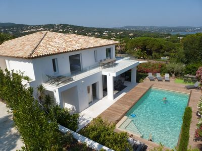 Photo for Luxury villa in Cavalaire - pool, sea view, 300m to the beach, free wireless internet