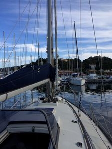 Photo for Sail boat at berth island of Porquerolles