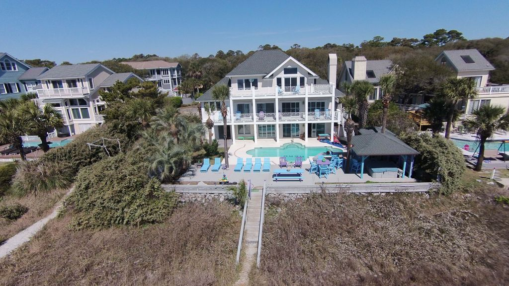 89 Dune Lane 7 Bedrooms Oceanfront Forest Beach Hilton Head South Carolina Island Area South