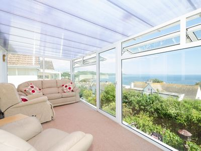 Photo for Comfortable accommodation for five with lovely sea views