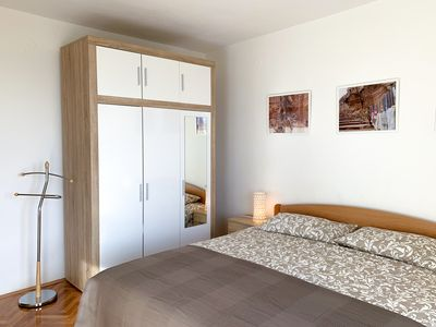 Photo for Bright apartment with sea view balcony 4 + 1 persons