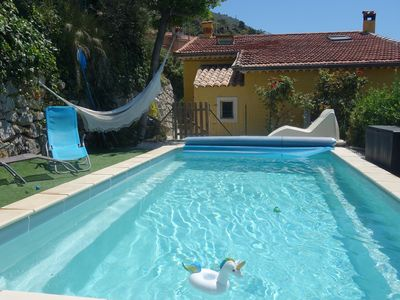 Photo for Detached house with private pool and large terrace near Nice.