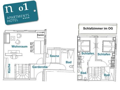 Photo for n 01 2-4 persons - ground floor - approx. 87 m2 - our wellness apartment for pampered - n Apartments Hotel