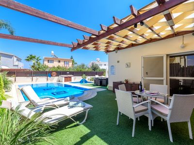 Photo for OUTSTANDING LUXURY 3 BED 3 BATH VILLA 2 PRIVATE POOLS WIFI CLOSE TO BEACH CY6278
