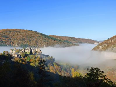 Cantobre from the east, our Gites can be above the clouds!