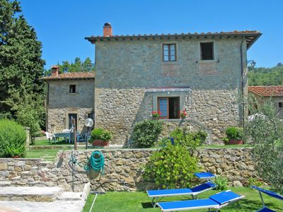 Photo for Nice apartment in villa for 4 guests with pool, WIFI, balcony and parking