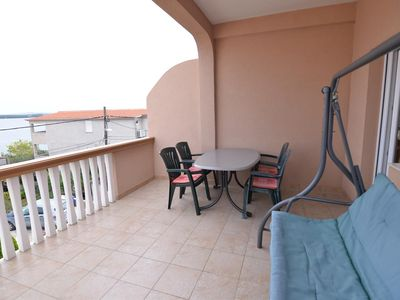 Photo for Two bedroom apartment with terrace and sea view Tkon (Pašman) (A-8455-a)