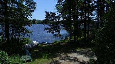 Photo for Cute Boathouse Cottage (Bottom floor) with lake views on Pemaquid Lake