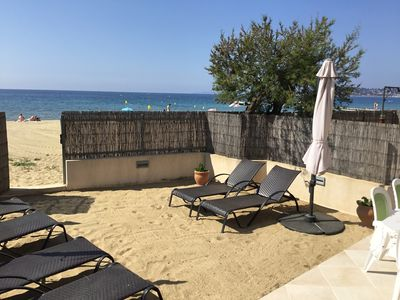 Photo for LUXURY APARTMENT 69 M2 (6/8 people) - ON THE BEACH WITH SAND GARDEN
