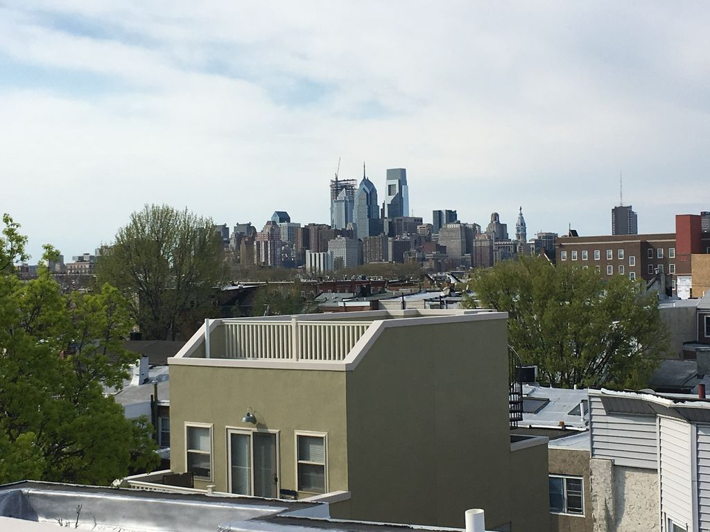 New 3 story townhouse with rooftop deck philly skyline for 3 story house with rooftop deck