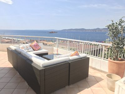 Photo for PENTHOUSE APPARTMENT BREATHTAKING SEAVIEWS, SAINT RAPHAEL, 6 PEOPLE ALL MOD CONS