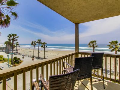 Photo for Ocean Front Luxury - Full Ocean View's - Private Balcony - Steps To The Beach!