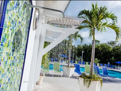 Photo for Tropical 2 Bedroom Ocean View Suites - Short Drive Away from Swim with the Dolphins Attraction