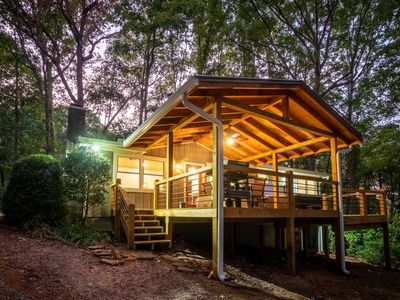 Affordable yet fully-loaded property with hot tub, fire pit, large deck, and secluded setting on Lak
