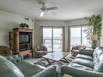 Photo for Beach Front Condo with Complimentary Beach Service! Private Balcony with Gorgeous Views of the Beach. Great Resort Amenities!