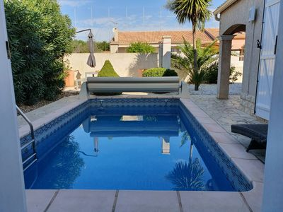 Photo for Stylish house with a Mediterranean garden, barbecue, private pool and climate