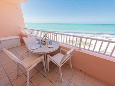 Photo for Gulf Front Condo with August Discounts! at Coquina Beach Club 204: 2 BR / 2 BA
