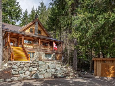 Photo for Craftsman style Chalet with breathtaking views of Whistler and Blackcomb mounti
