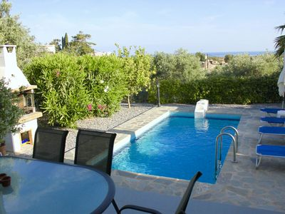 Photo for Luxury Villa with private pool in Crete (Rethymnon), terrace and sea view