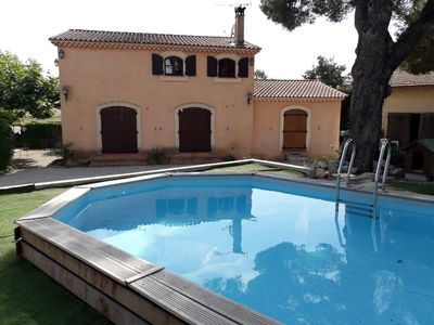 Photo for Bastide with pool, garden, barbecue and petanque!