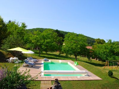 Photo for Near Sarlat, House 110m², all comfort, bright, beautiful private pool
